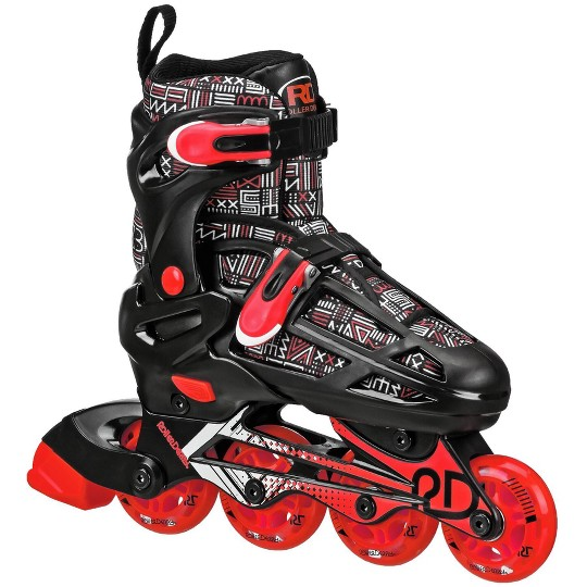 Roller Derby Caspian Boys Adjustable Inline-Quad Combo Skates Size 3-6 - Black image number null