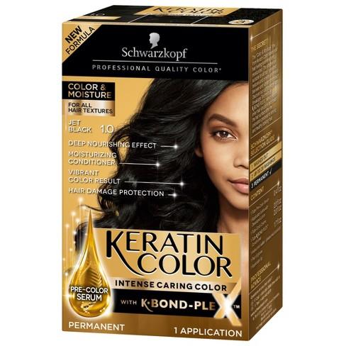 Schwarzkopf Keratin Color Jet Black Permanent Hair Color 6 2oz