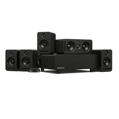 Platin Monaco 5.1 Plus WiSA SoundSend Immersive Wireless Home Audio System. Tuned by THX, WiSA Certified, 24-Bit High Resolution Audio System with Dolby Atmos 5.1.2