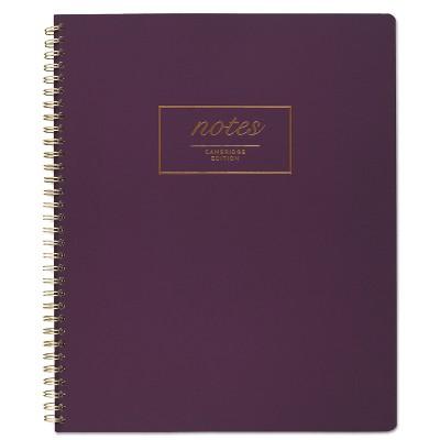 Cambridge Fashion Twinwire Business Notebook 11 x 9 Purple. 80 Sheets 49567