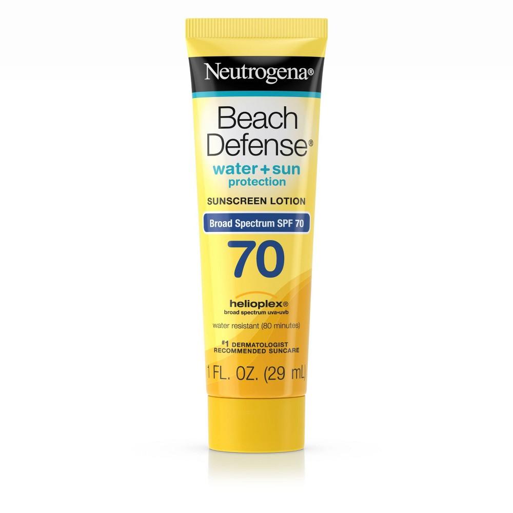 Image of Neutrogena Beach Defense Broad Spectrum Sunscreen Lotion - SPF 70 - 1 fl oz