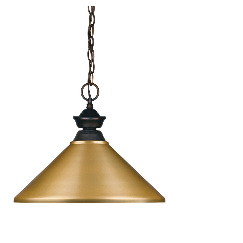Pendant with Satin Gold Glass Ceiling Lights - Z-Lite
