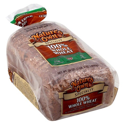 Nature's Own 100% Whole Wheat Bread 24oz - image 1 of 1