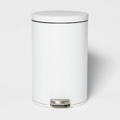 12L Round Step Trash Can White - Made By Design™