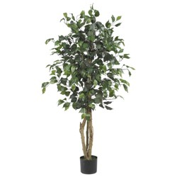 4ft Artificial Ficus Silk Tree in Pot - Nearly Natural