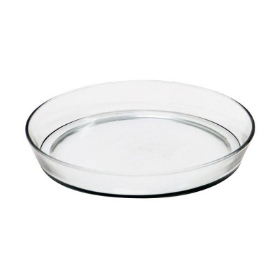 Round Glass Tray for Indoor and Outdoor Gardening Clear - ACHLA Designs