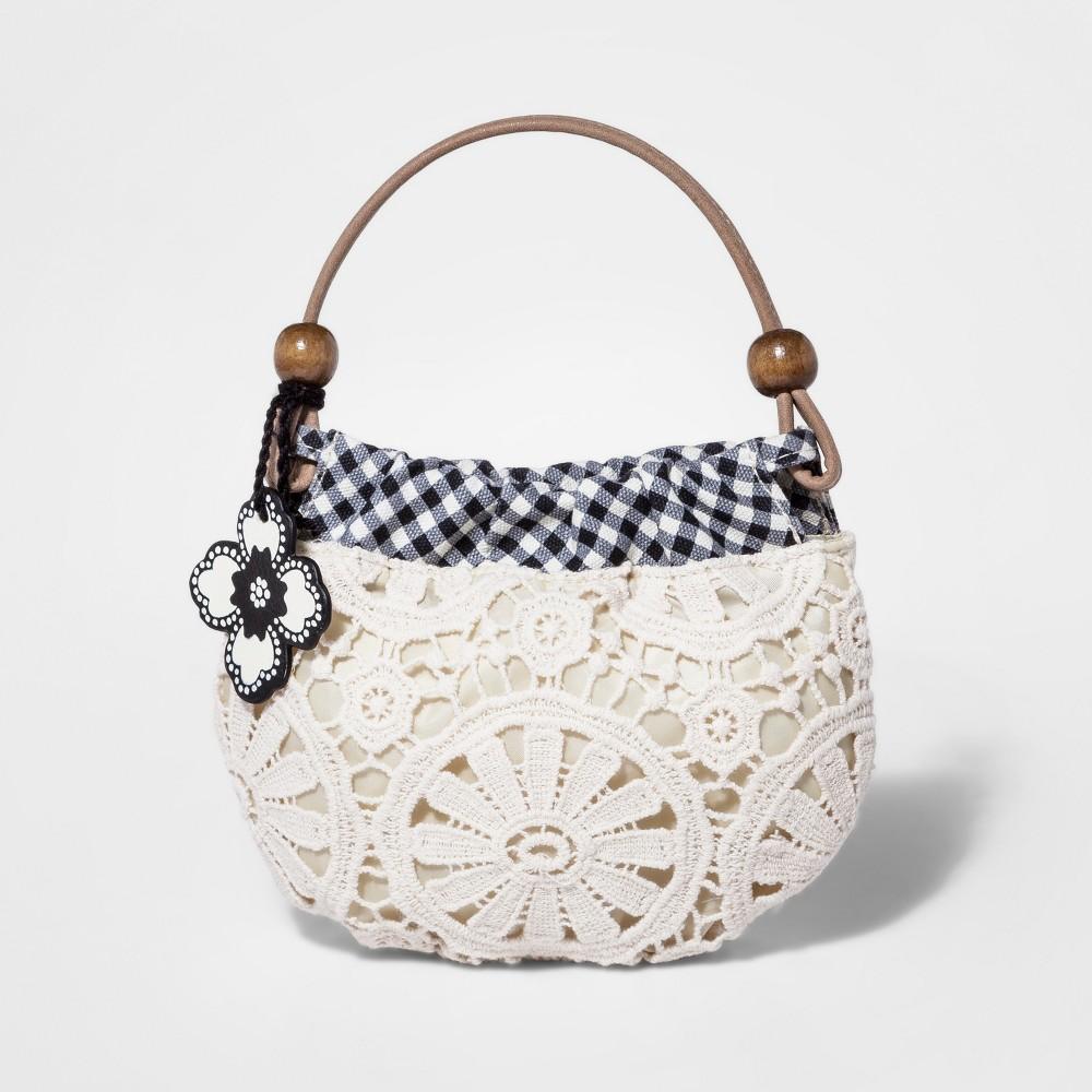 Genuine Kids from OshKosh Toddler Girls' Crochet Hobo Satchel Handbag - Cream (Ivory)