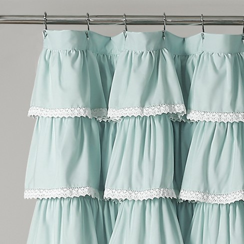 72x72 Lace Ruffle Shower Curtain