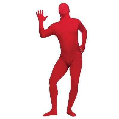 Adult Skin Suit Halloween Costume Red One Size