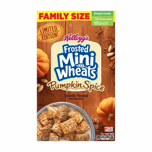 Frosted Mini Wheats Pumpkin Spice Family Size Breakfast Cereal - 22oz - Kellogg's - image 1 of 4