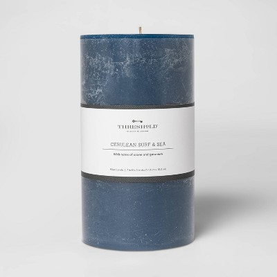 Pillar Cerulean Surf and Sea Candle Navy - Threshold™