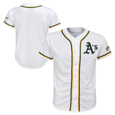 more photos eb918 58a7e MLB Oakland Athletics Boys' White Team Jersey