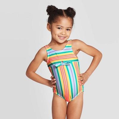 NEW Cat /& Jack infant girls sz 9 Months Tankini Swimsuit UPF 50 AQUA W//HEARTS