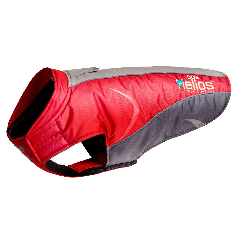 Helios Altitude-Mountaineer Wrap-Easy closure Protective Waterproof Dog Coat - Red - L, Red Gray