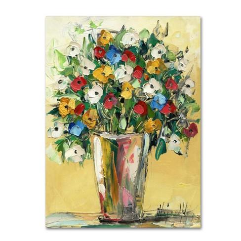 Trademark Fine Art 24 X 18 Hai Odelia Spring Flowers In A Vase 9