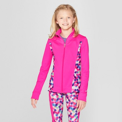 7362d99cbc87 Girls  Printed Performance Jacket – C9 Champion® Pink Blue XS ...
