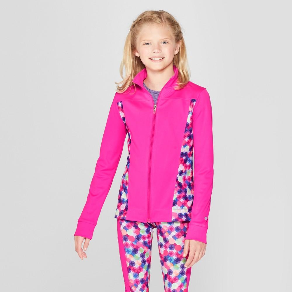 Girls' Printed Performance Jacket - C9 Champion Pink/Blue S