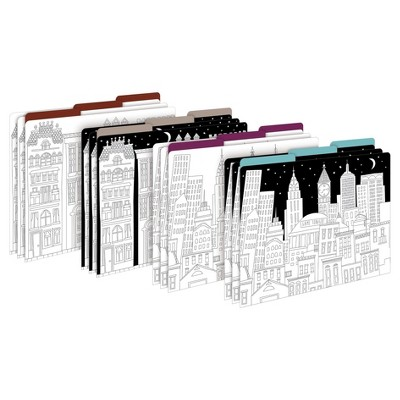 "Barker Creek File Folders, 9.5"" x 12"", 12ct - Color Me! Cityscapes"
