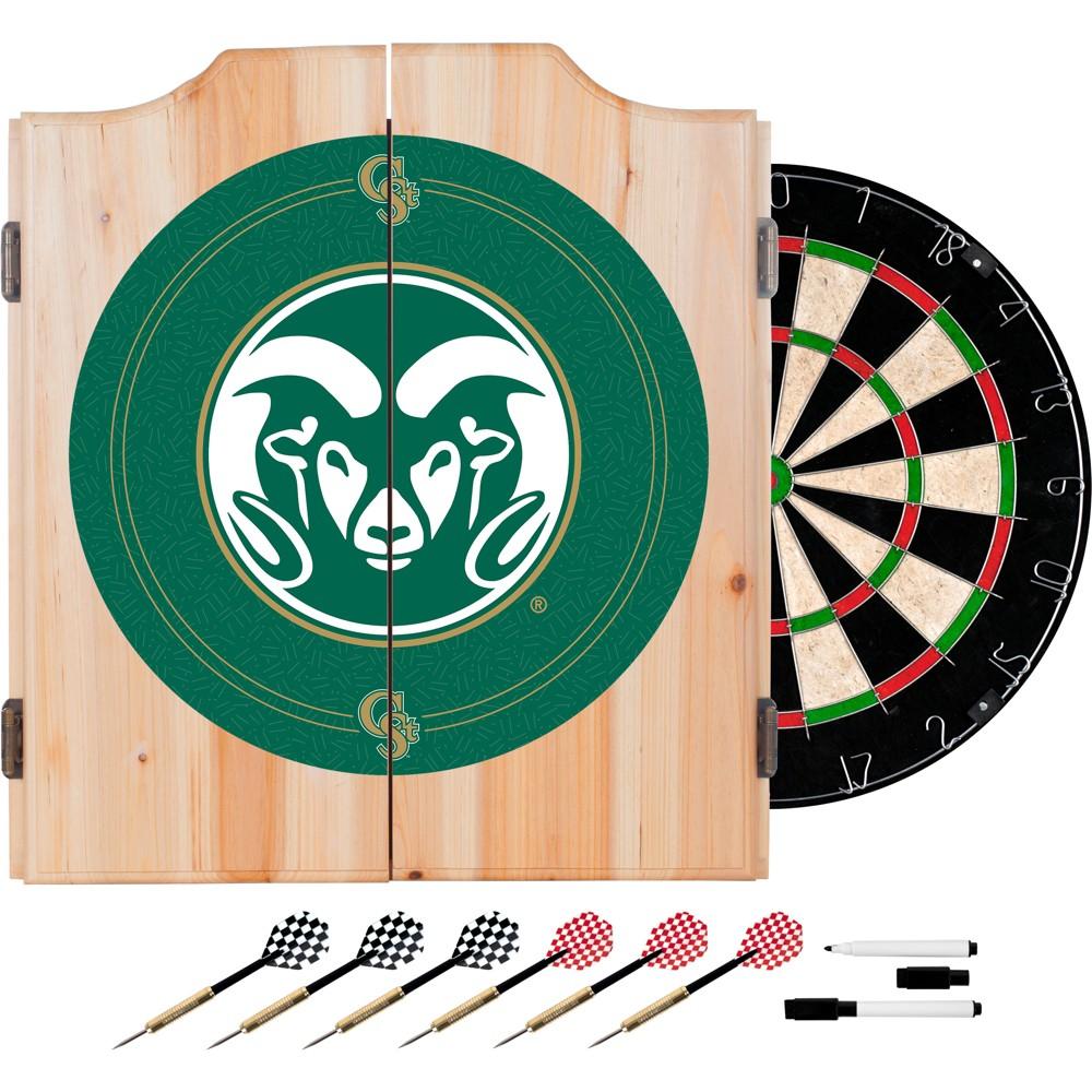 NCAA Los Angeles Rams Wood Dart Cabinet Set