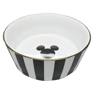 Disney® Mickey Mouse & Friends® Porcelain Dog Bowl - Black Stripe