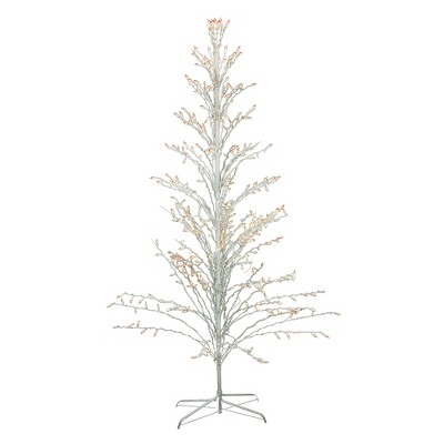 Northlight 6' Prelit Artificial Christmas Tree White Lighted Cascade Twig Outdoor Decoration - Clear Lights