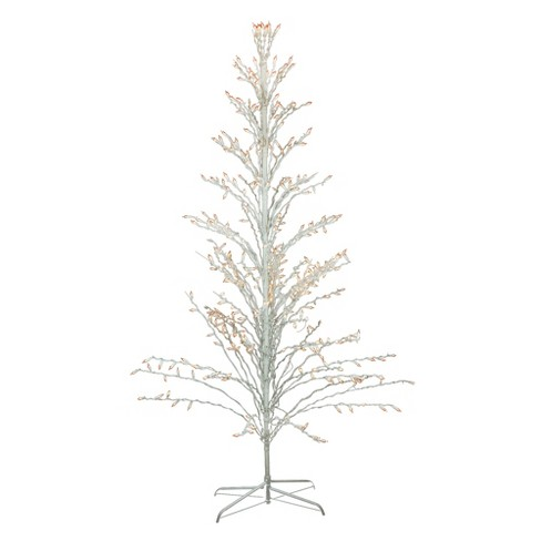 Northlight 6' Prelit Artificial Christmas Tree White Lighted Cascade Twig Outdoor Decoration - Clear Lights - image 1 of 4