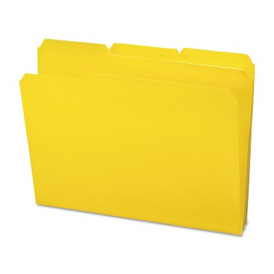Smead Waterproof Poly File Folders 1/3 Cut Top Tab Letter Yellow 24/Box 10504