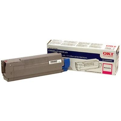 Oki Original Toner Cartridge - LED - 5000 Pages - Magenta - 1 Each