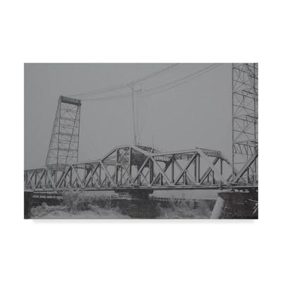"""12"""" x 19"""" Livingston Avenue Bridge by Ian Tornquist - Trademark Fine Art"""