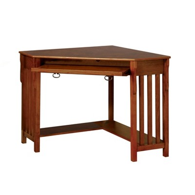 Incroyable Sun U0026 Pine Mezas Mission Style Corner Computer Desk Medium Oak