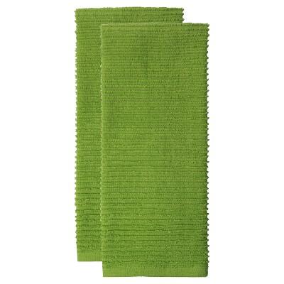 2pk Cotton Ridged Kitchen Towels - MU Kitchen