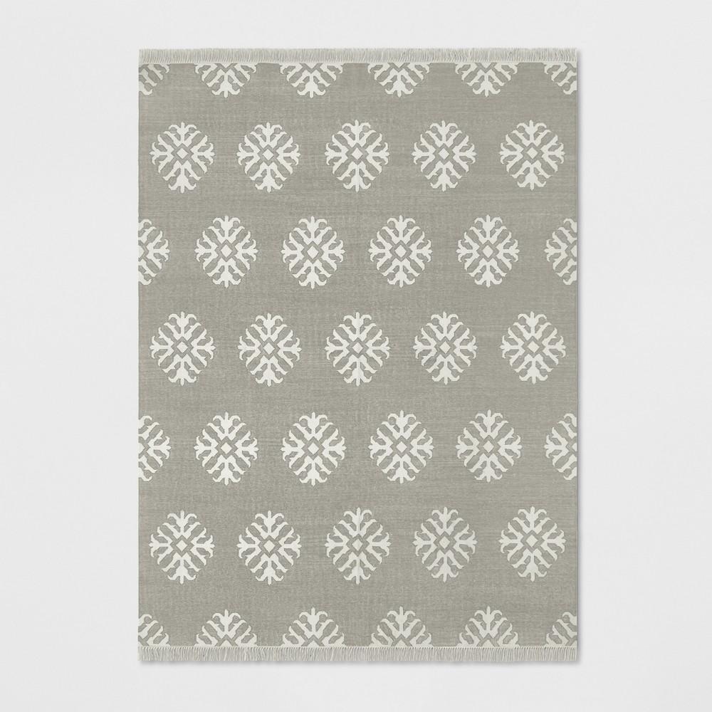 9'X12' Geometric Woven Area Rugs Gray - Threshold