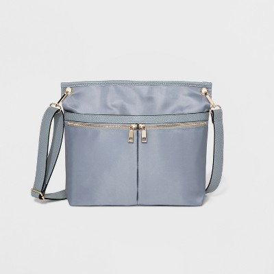 2fe21098b8 Double Zip Messenger Bag - A New Day™ Drizzle Gray