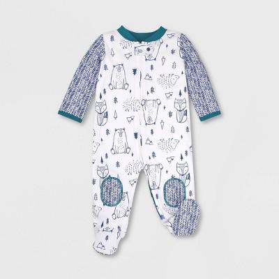 Lamaze Baby Boys' Organic Cotton Woodland Sleep 'N Play - Blue 3M
