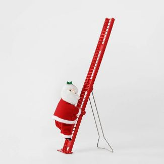 Small Climbing Santa Decorative Figurine Red - Wondershop™