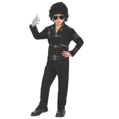 """Rubies Kids """"Bad"""" Black Buckle Michael Jackson Jacket Costume"""
