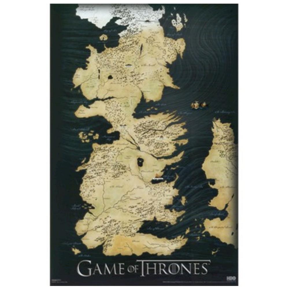 Art.com - Game of Thrones - Map Framed Poster