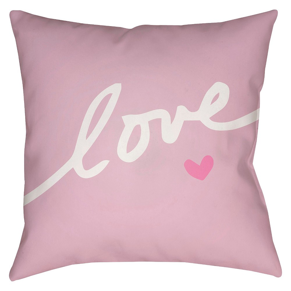 Pink Love Forever Throw Pillow 20