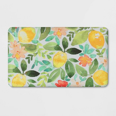 "18""x30"" Lemons Comfort Kitchen Mat - Threshold™"