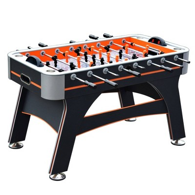 "Hathaway Trailblazer 56"" Foosball Table with Electronic Scoring - Orange/Black"