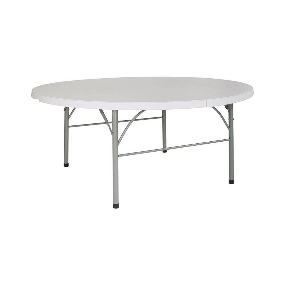 Riverstone Furniture Collection Plastic BiFold Table Granite White