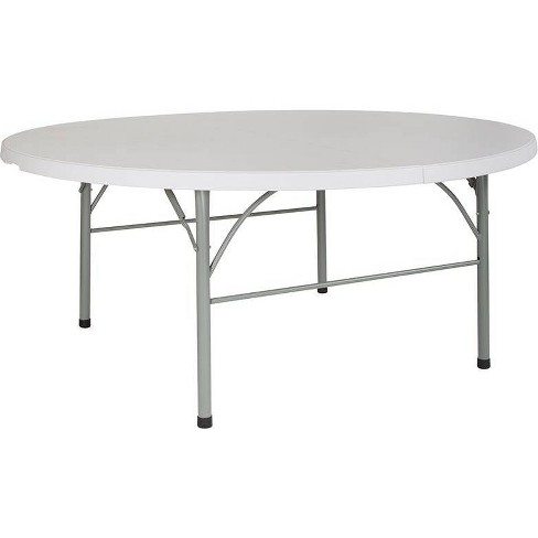 Riverstone Furniture Collection Plastic BiFold Table Granite White - image 1 of 4