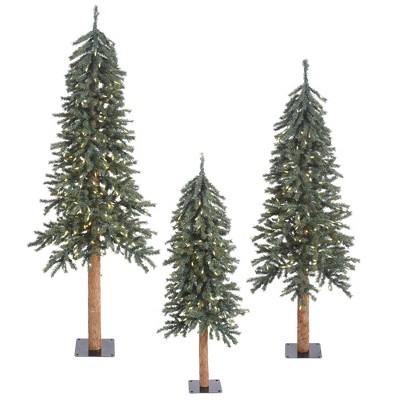 6ft Pre-Lit Natural Bark Artificial Tree 500 LED Warm White - Vickerman