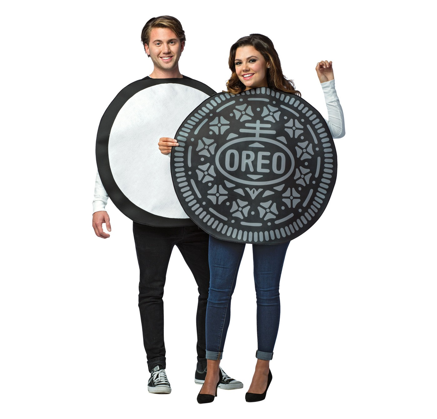Oreo Cookie Adult Couples Costume - image 1 of 1