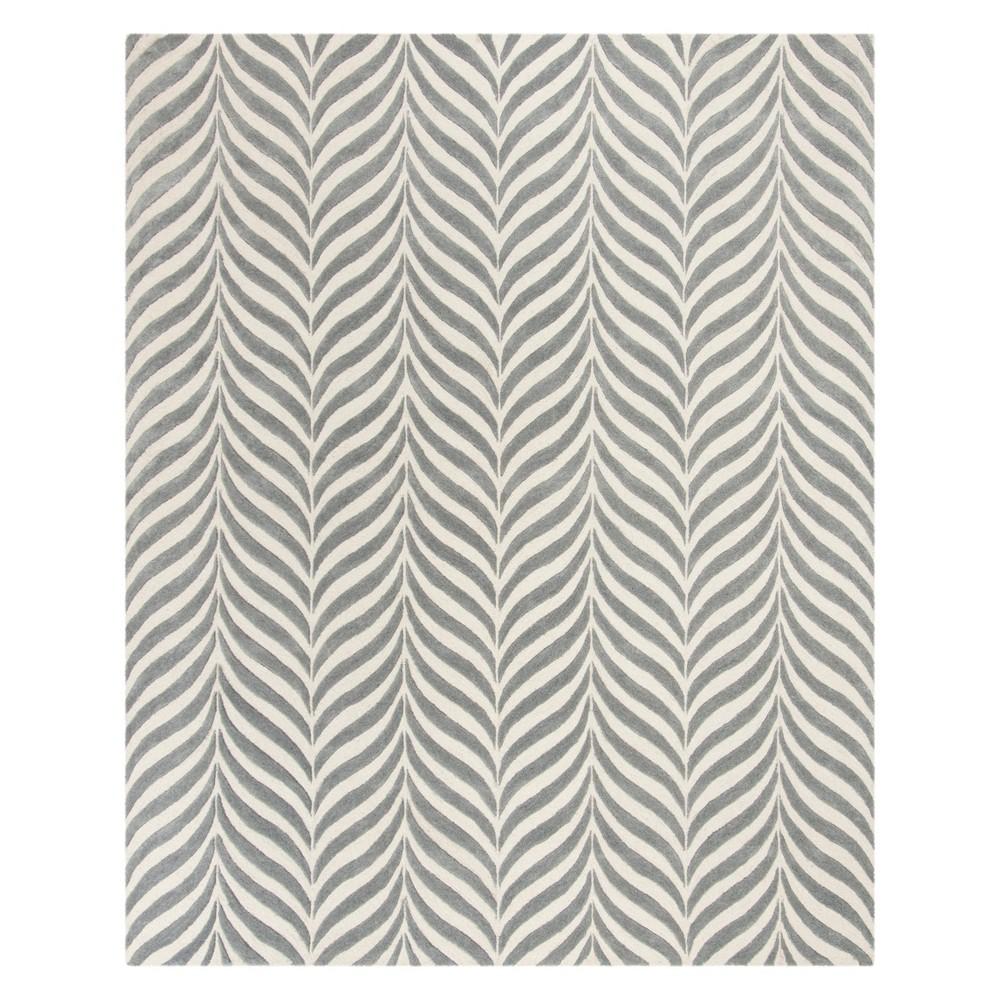 6'X9' Stripe Area Rug Ivory/Gray - Safavieh
