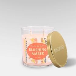 15.1oz Lidded Glass Jar 2-Wick Candle Blushing Amber - Opalhouse™