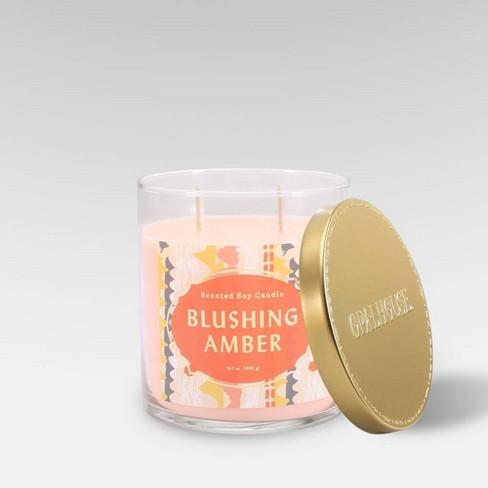 15.1oz Lidded Glass Jar 2-Wick Candle Blushing Amber - Opalhouse™ - image 1 of 2