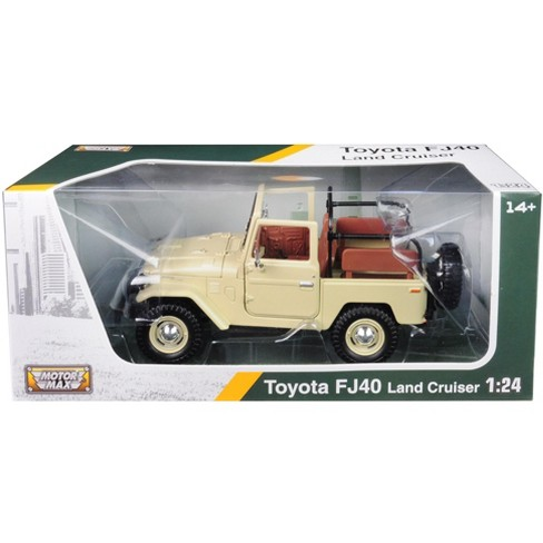 Toyota Land Cruiser FJ40 Convertible Beige 1/24 Diecast Model Car by Motormax - image 1 of 1