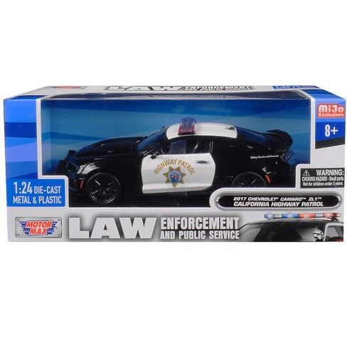 2017 Chevrolet Camaro ZL1 California Highway Patrol (CHP) Black and White 1/24 Diecast Model Car by Motormax - image 1 of 1