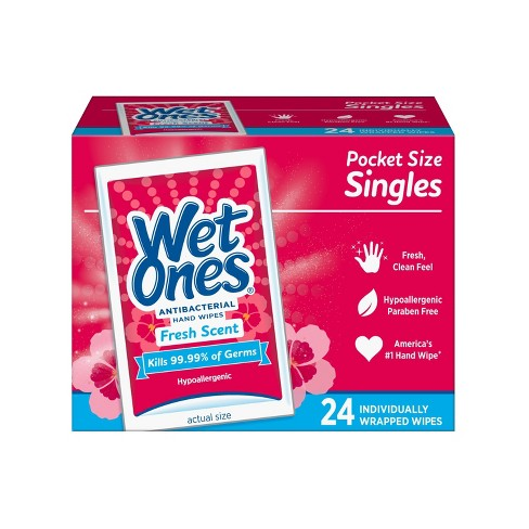Wet Ones Antibacterial Hand Wipes Singles - Fresh Scent - 24ct - image 1 of 4